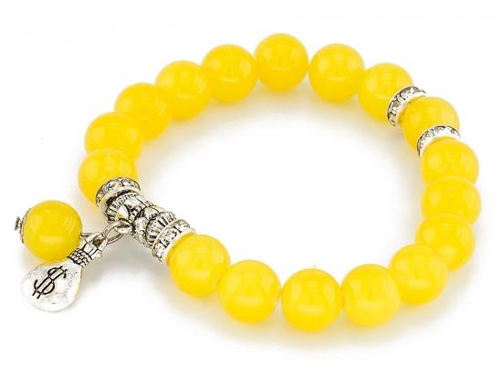 Bransoletka ball bright żółta
