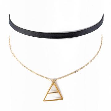 Choker trójkąt złoty