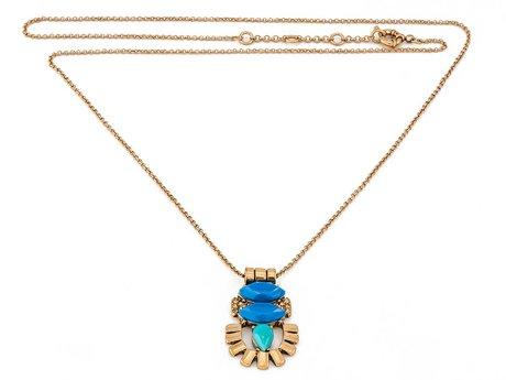 Naszyjnik azjatycki niebieski